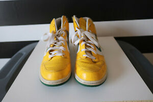 buy popular 6d259 1975d Image is loading Nike-Dunk-High-Tops-Yellow-White-Green-317982-