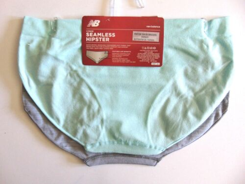 M L New 2 Pack New Balance Performance Seamless Hipster Panties  S XL