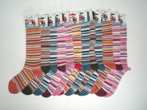 39-42 Socken 3 Paar Ringel Kinder Knie Strümpfe Mädchen Jungen 23-26