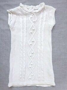 """Belle Robe blanche maille crochet """"KIDKANAÏ"""" Parfait état Taille 3 ans"""