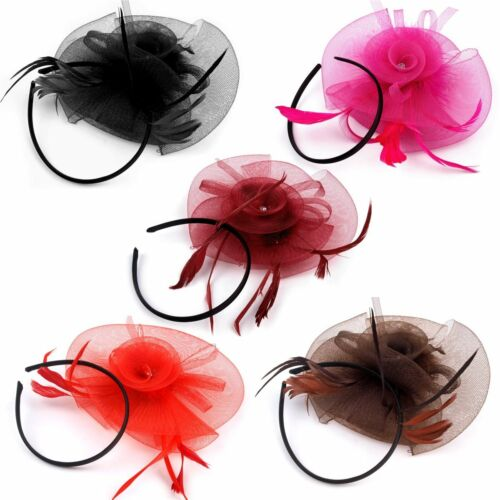 beaucoup de couleurs burlesque coquille Bijoux de cheveux chapeau Bandeau Bijou plumes