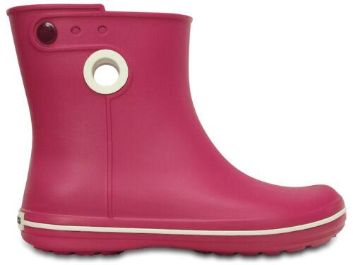 Crocs Crocband Jaunt Shorty Ladies Womens Short Wellington BOOTS Berry Pink  UK W4  US W6