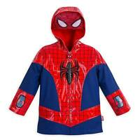 Disney Store Marvel Spiderman Deluxe Super Hero Rain Jacket Boys Size Toddler 2