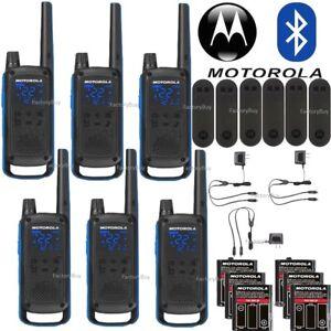 Motorola-Talkabout-T800-Walkie-Talkie-6-Pack-Set-35-Mile-Two-Way-Bluetooth-App