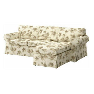 bezug norlida wei beige f r ektorp 2er sofa mit recamiere neu ovp ebay. Black Bedroom Furniture Sets. Home Design Ideas