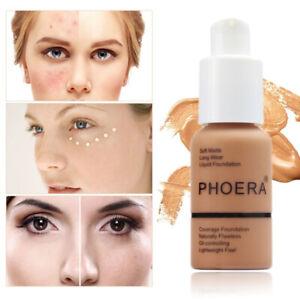 PHOERA Foundation Full Coverage Concealer Makeup Matte Brighten Base Cream Magic
