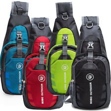 Men's Nylon Crossbody Shoulder Bags Chest Cycle Sling Pack Daily Travel Backpack