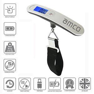 Amco-Electronico-Digital-Portatil-50-Kg-Bolsa-De-Viaje-Maleta-Equipaje-Balanza