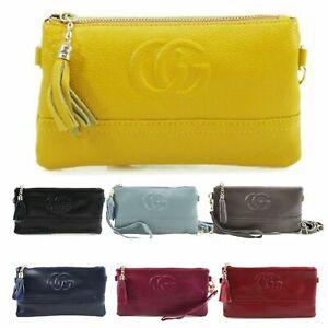 Ladies-Organiser-Leather-Wristlet-Purse-Women-Coin-Key-Wallet-Purse-New-UK