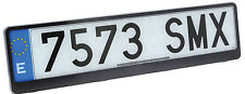 Sumex Car Front / Rear Black ABS Plastic License Number Plate Holder Surround 85