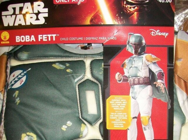 Rubies 620141 Halloween NEW 4-6 Star Wars Boba Fett Child Costume S