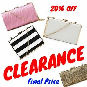 aa7691a0dab6 Details about 20% OFF Womens Evening Bag Sale Ladies Clutch Bag Clearance  Women's Handbag Sale