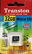 Transton 32GB Micro SD Memory Card Class 10 with 1year Replacement Warranty