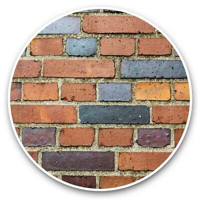 Brick Wall Construction Building House  #44447 2 x Vinyl Stickers 25cm