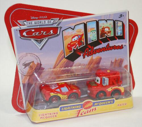 Disney PIXAR Cars Mini Adventures Lightning McQueens Team McQueen /& Mater