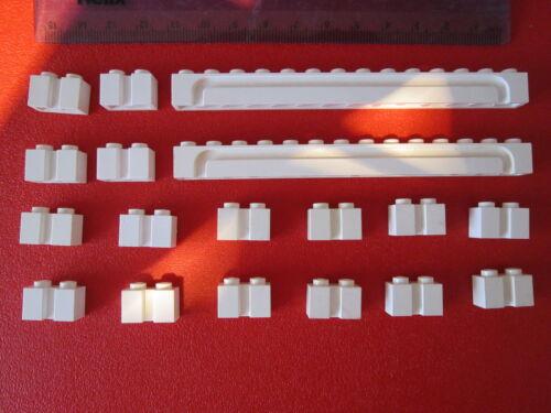 LEGO 18 x Sliding Garage Door  Shutter Modified Grooved Bricks 1x14 /& 1x2 WHITE