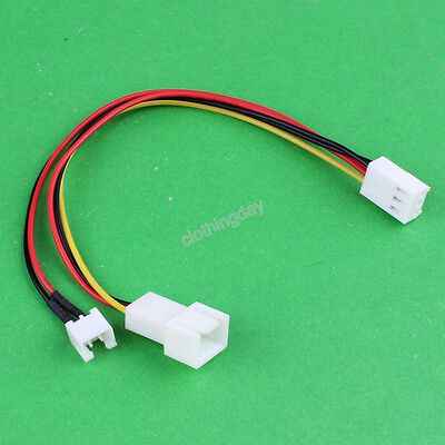 100pcs Computer Molex 3Pin F To 2Pin 3PIN M Fan Power Y Splitter Cable Wire