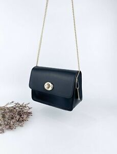 Pristine condition Coach Chain black mini bag in gold hardware