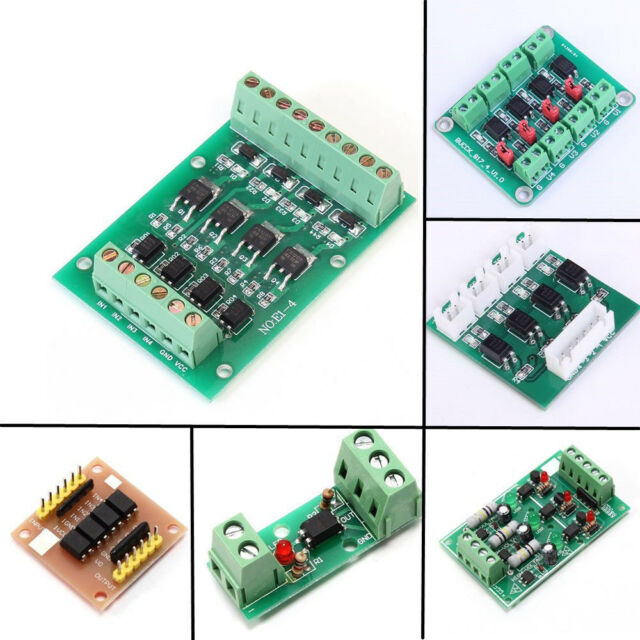 DC 24V 10A, 4-Channel KNACRO 4-Channel Relay Module DC 24V with Optocoupler Isolation H//L high//Low Level Triger for Arduino