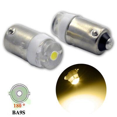 2-20PCS BA9S T4W Side Turn Signal Tail Interior Bayonet White Light Bulb LED 1YR