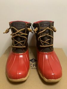 Sider Saltwater Tan/Red Duck Boots Size
