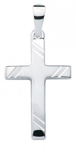 Pendant Christian cross Komm Plain on White gold 12663514 333 White gold