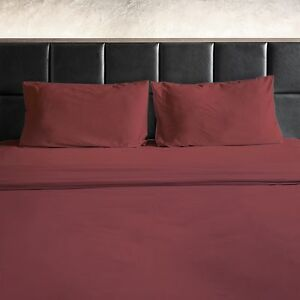 Image Is Loading 1800 HIGH THREAD COUNT COTTON FEEL 4 PIECE