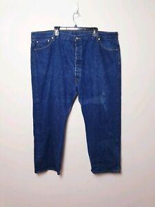 Levis-Mens-Size-W50-L30-501-XX-Dark-Blue-Straight-Denim-Button-Fly-Jeans