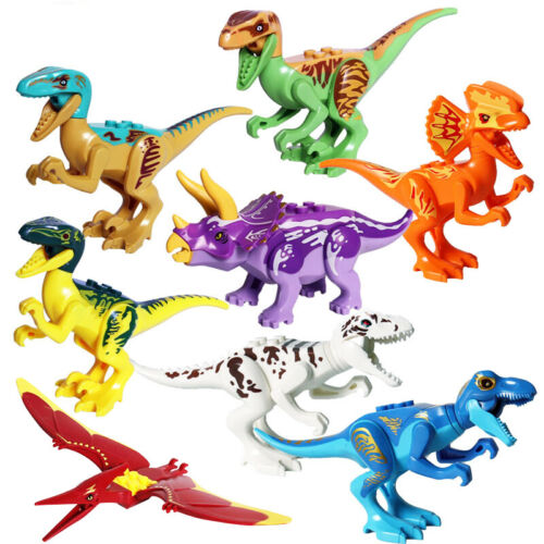 USA SELLER Jurassic World Dinosaurs Minifigures Sets 8-12pcs Lot