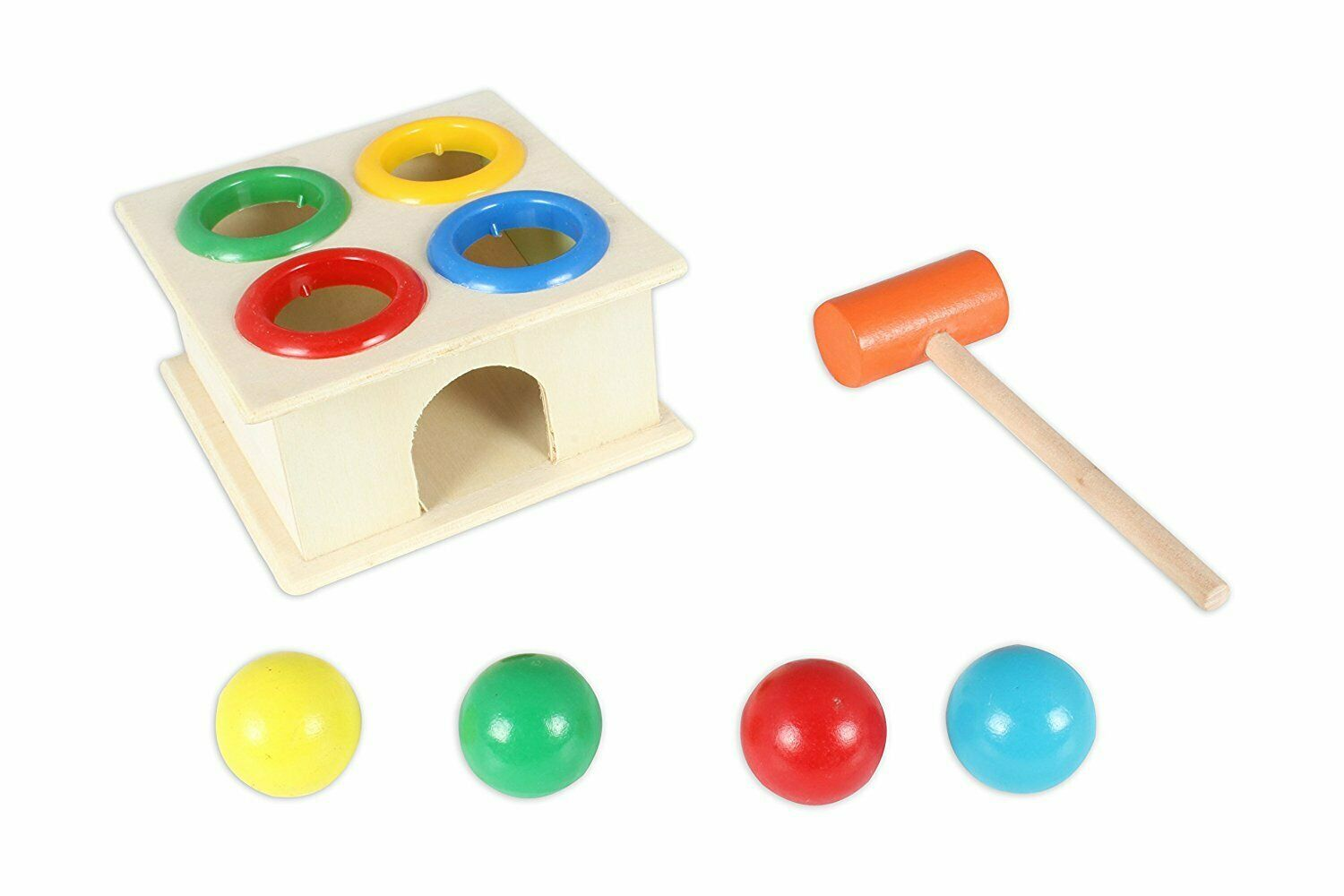 Wooden Hammer Case Case Case Toy For Kids (30 x 1.5 x 22 CM) Interactive Learning Toy Set 2050bb