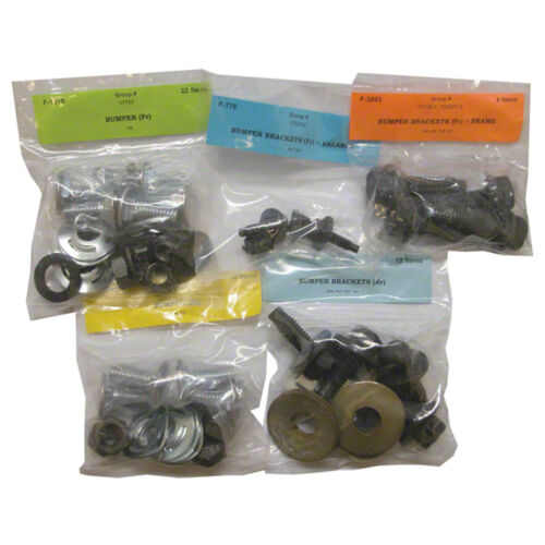 EXCEPT SHELBY BUMPER MOUNTING HARDWARE SET; 70 MUSTANG 50 PIECES