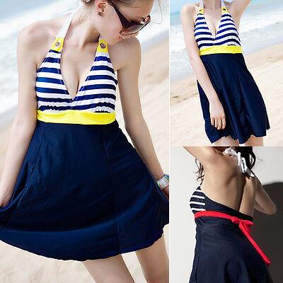 Ladies Swimwear One Piece Swimdress Bather Aus Size 6 8 10 12 14 16 18 #20321