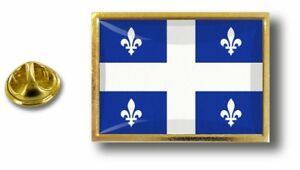 Anstecknadel Pin Abzeichen Metall Mit Zange Papillon Flagge Kanada Quebec