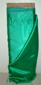 New-Vintage-Satinette-Reversible-Creped-Back-Satin-2-yd-GREEN-Fabric