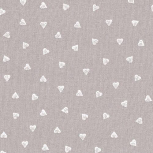 Stoffa a cuori tessuto cotone 100/% cucito creativo bomboniere cm 50x140