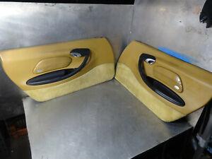 Porsche-Boxster-1997-2004-2001-986-996-PAIR-of-Front-Doorcards-in-Tan