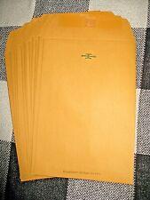 15 Manila Claspgummed Shipping Envelopes 9 12x 6 12 Sturdy
