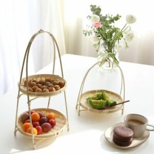 Woven-Bamboo-Storage-Baskets-Handmade-Folding-Fruits-Dish-For-Kitchen-Containers