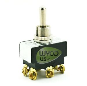 TOGGLE SWITCH, (ON)-OFF-(ON), 6 TERMINALS, 10A @ 277 VAC, 20A @ 125 ...