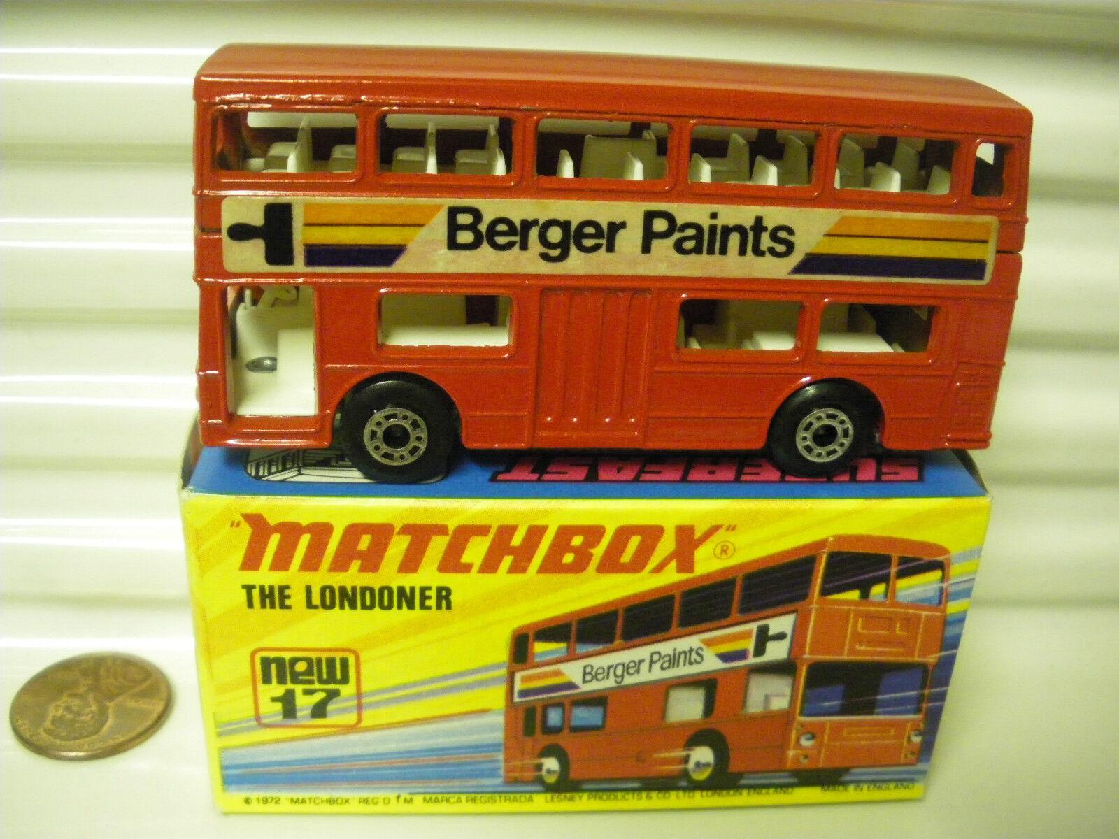 MATCHBOX MB17B BERGER PAINTS BUS UNPAINTED BASE DotDash Whls +AXLE Braces MIMB