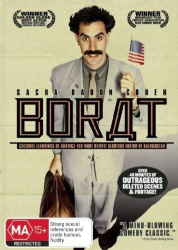 1 of 1 - Borat DVD Sacha Baron Cohen Pamela Anderson Larry Charles BRAND NEW SEALED R-4