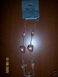 NWT-Metro-Glass-Beads-Necklace-NEW-Fashion-Jewelry-Clear-Beads-Women-Choker