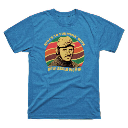 Quint Jaws Here's To Swimming with Bow Legged Women Vintage Men/'s Tee T Shirt