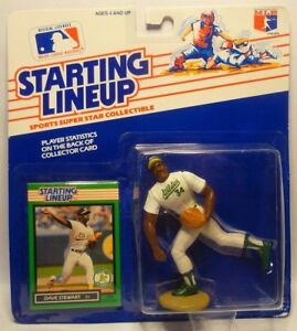 1990  DAVE STEWART Oakland Athletics Blue Kenner Starting Lineup Card