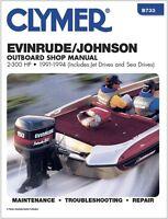 Clymer 175 Hp 60 Degree V6 Evinrude Johnson Outboard Motor Service Manual 91-94