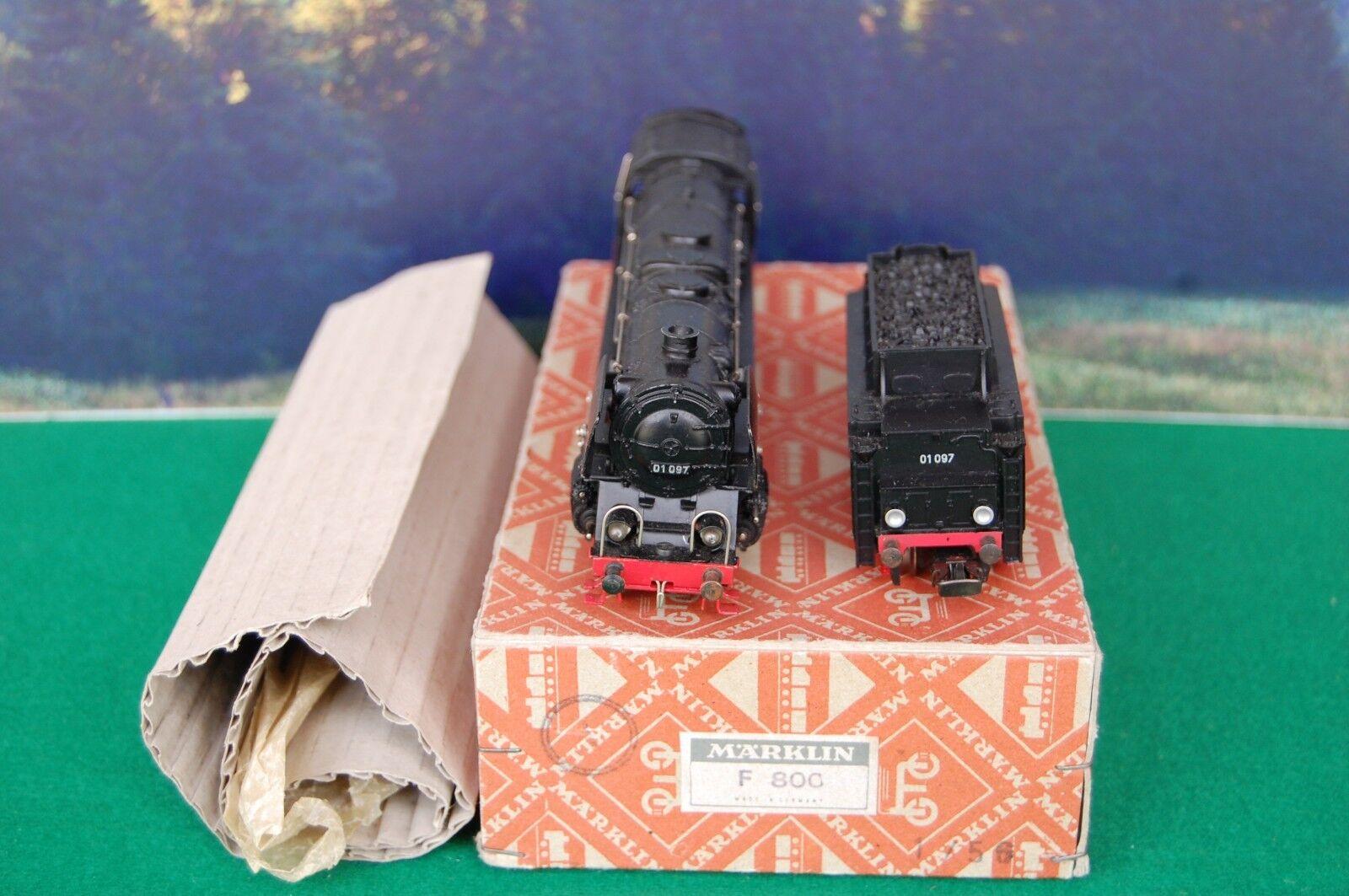 Märklin HO steam locomotive, BR 01 from DB, article F 800.6  with orinal box