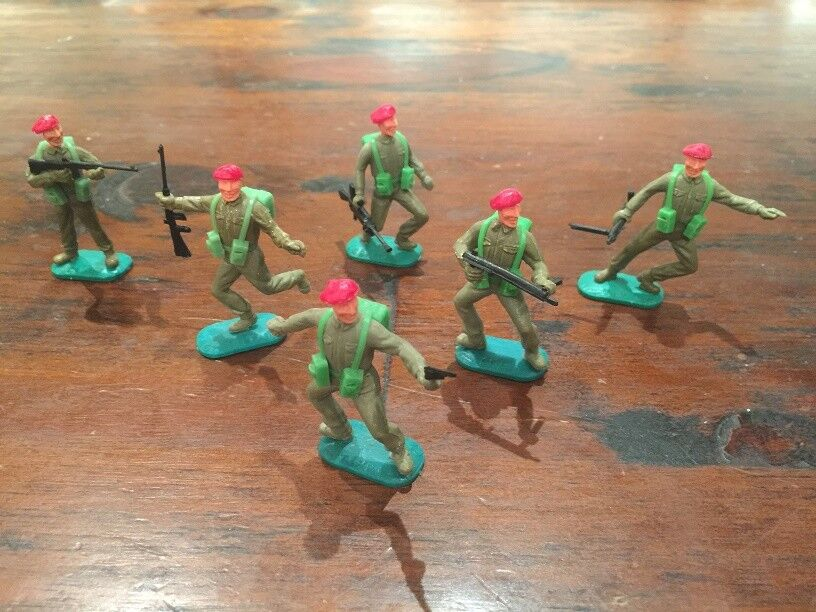Timpo WW2 British Paratroopers - Airborne Division - Complete Set - 1970's
