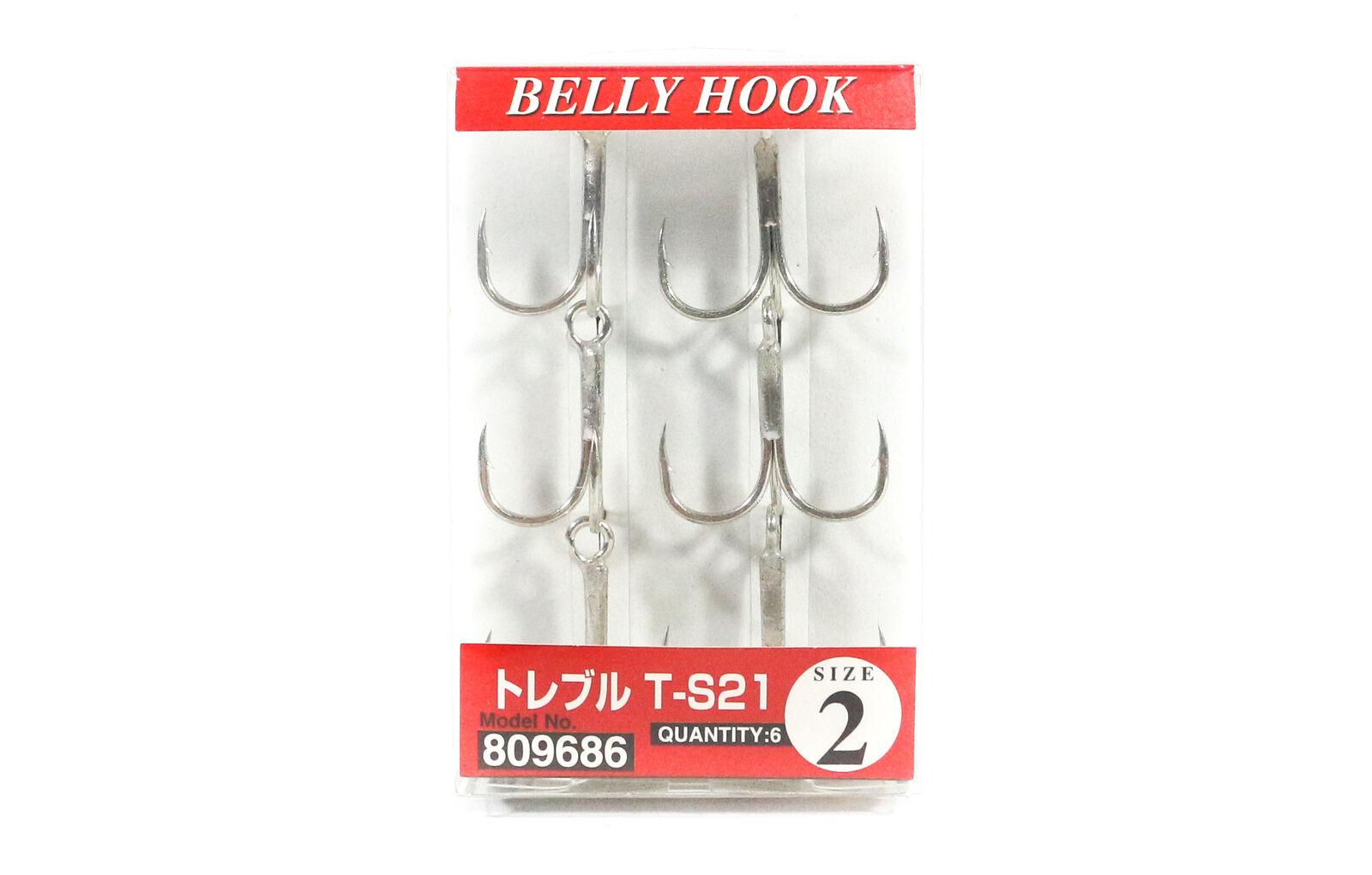 Decoy Y-F33F Treble Hook Fine Wire Treble Hooks Size 7 5099