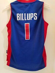 e1fc730eb1b ADIDAS Chauncey Billups  1 DETROIT PISTONS Jersey Sewn youth Medium ...