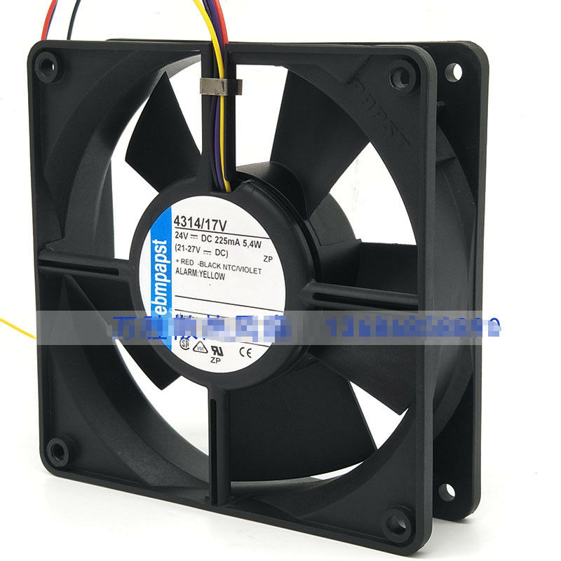 1pcs  Ebmpapst 4314 17V fan DC24V 5.4W 12032 120×120×32mm 4 line